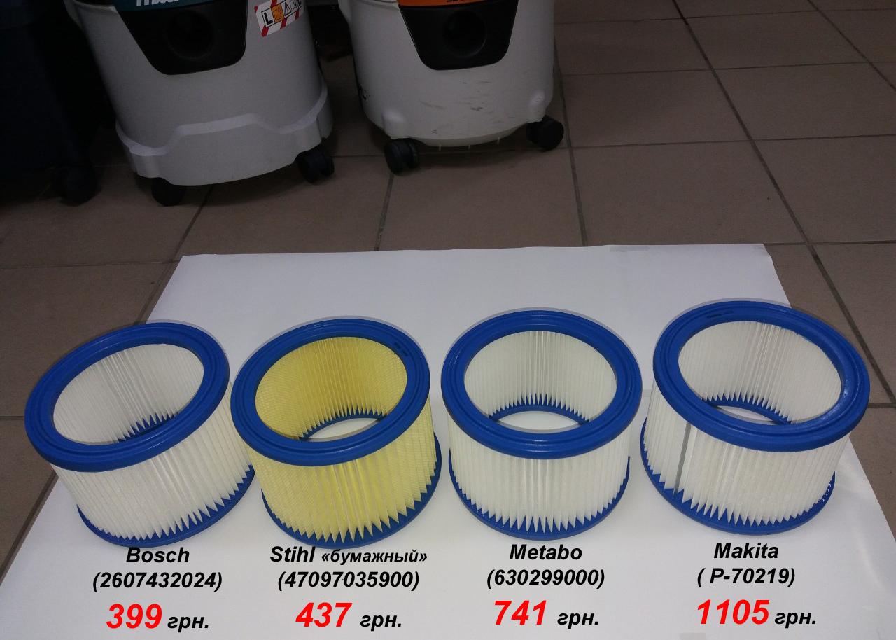 Сравнить фильтр круглый для пылесоса Makita, Metabo, Bosch