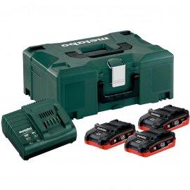 Набор аккумуляторов Metabo 18 В, 3х3.1 Ач, LiHD + MetaLoc (685075000)