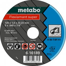 Отрезной круг Metabo Fleхiamant super, A 60-T, 115 мм (616188000)