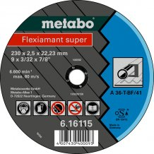 Отрезной круг Metabo Fleхiamant super, A 36-T, 115 мм (616104000)