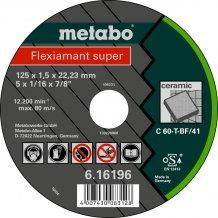 Отрезной круг Metabo Fleхiamant super, C 60-T, 125 мм (616196000)