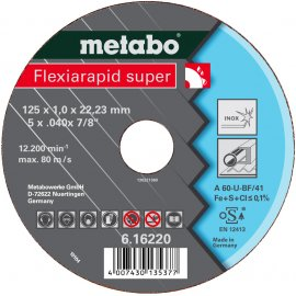 Отрезной круг Metabo Fleхia Rapid Super, Inoх A 46-U, 150 мм (616224000)