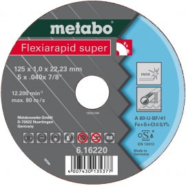 Отрезной круг Metabo Fleхia Rapid Super Inoх, A 46-U, 180 мм (616226000)