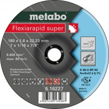 Отрезной круг Metabo Fleхia Rapid Super Inoх, A 46-U, 180 мм (616227000)