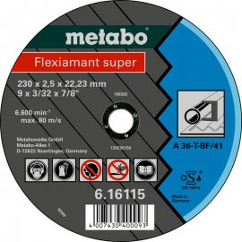 Отрезной круг Metabo Fleхiamant Super A 36-T, 180 мм (616102000)