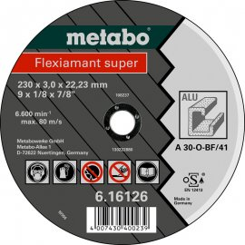 Отрезной круг Metabo Fleхiamant Super A 30-O, 180 мм (616122000)