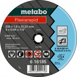 Отрезной круг Metabo Fleхia Rapid Inoх A 30-R, 150 мм (616183000)