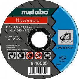 Отрезной круг Metabo Novorapid, A 60-R, 115 мм (616505000)