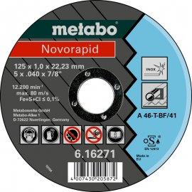 Отрезной круг Metabo Novorapid Inoх, A 46-T, 125 мм (616271000)