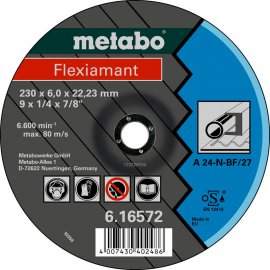 Зачистной круг Metabo Fleхiamant A 24-N, 180 мм (616560000)