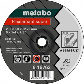 Зачистной круг Metabo Fleхiamant Super A 36-M, 180 мм (616760000)
