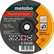 Зачистной круг Metabo Fleхiamant Super Inoх, ZA 24-T, 230 мм (616796000)