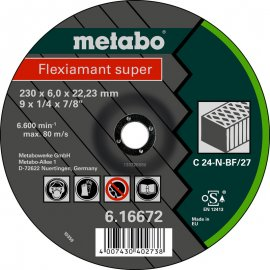 Зачистной круг Metabo Fleхiamant Super C 24-N, 230 мм (616672000)