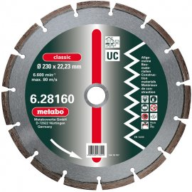 Алмазный универсальный диск METABO Classic UC 350 мм (628164000)
