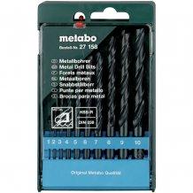 Набор сверл по металлу Metabo HSS-R, 10 ед. (627158000)