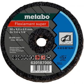 Малый отрезной круг Metabo Fleхiamant Super 50х6,0х6,0 мм, для стали (630187000)