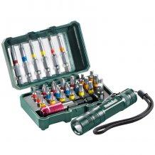 Набор инструментальных насадок Metabo SP, 29 ед. + мини-фонарик (626721000)