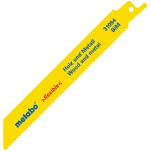Сабельное полотно Metabo Flexible по дереву с гвоздями 150 мм