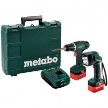 Аккумуляторный шуруповерт Metabo BS 12 NiCd + фонарик ULA 12