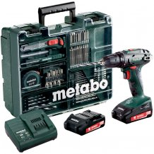 Аккумуляторный шуруповерт Metabo BS 18 Set Mobile Workshop (602207880)